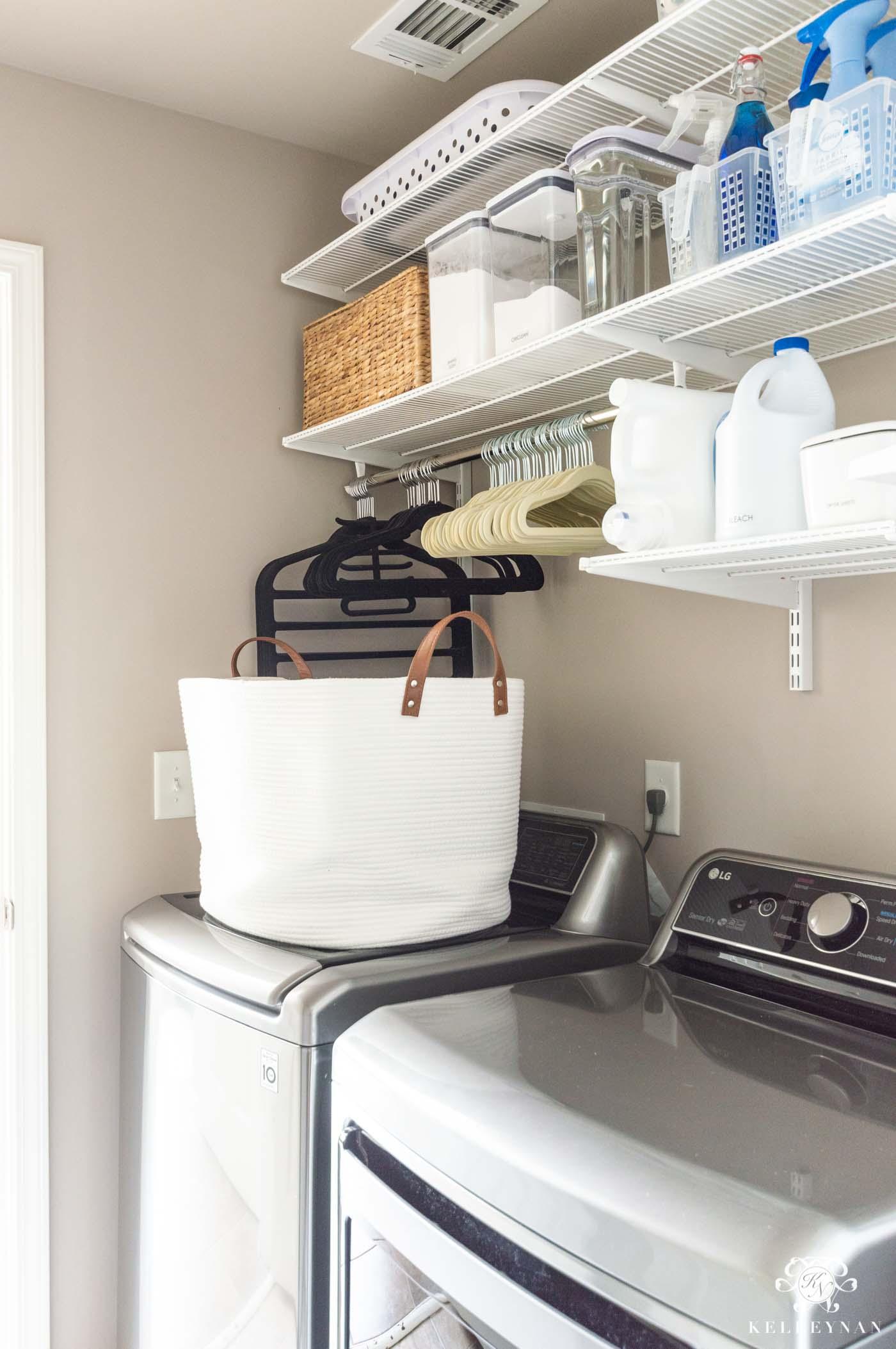 Small Laundry Room Organization Ideas | Kelley Nan on Laundry Room Organization Ideas  id=57692
