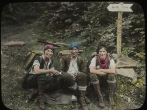 Three Musketeers -Female Hikers of the Long Trail in 1927