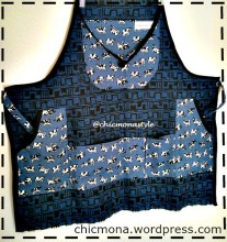 chic mona handmade six pocket denim apron
