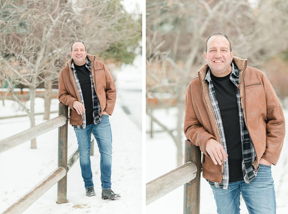 Bend Headshot Photography, casual dating profile headshots at Hollinshead Park in Bend, Oregon.