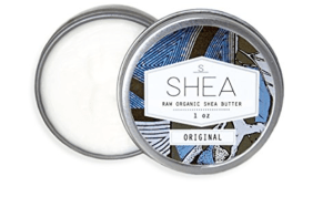 Shea butter gift for chapped hands and face and dry skin. stocking stuffer idea