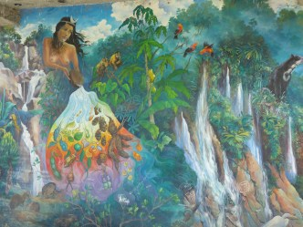 An Andes-to-Amazon mural in Quillabamba