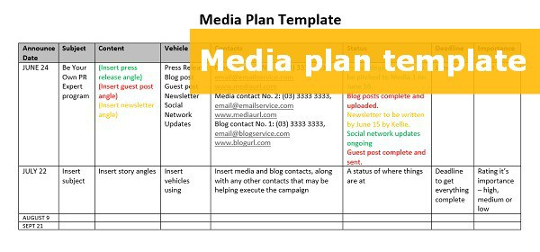 A huge collection of templates to help you make the perfect newsletter a consolidated way of spreading word about your business is a newsletter. Free Downloadable Media Plan Template