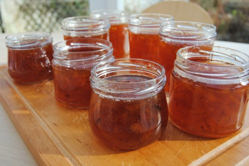 jars of seville orange marmalade