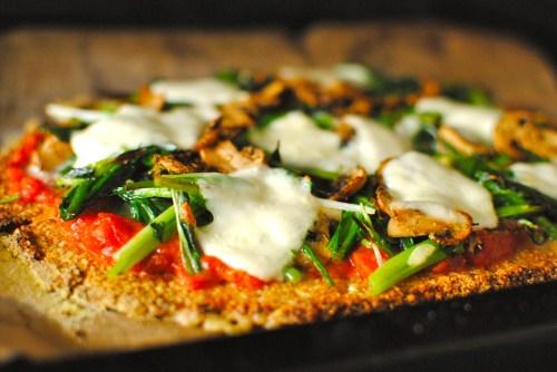 cauliflower and almond pizza crust
