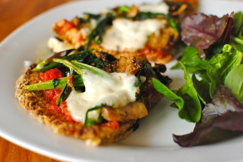 cauliflower and almond pizza crust