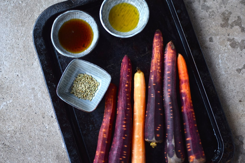maple and fennel roasted carrots