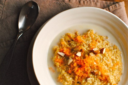 carrot & almond porridge