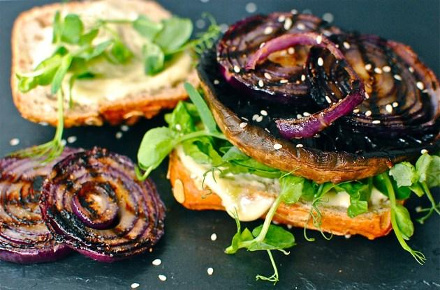 teriyaki portobello mushroom burger