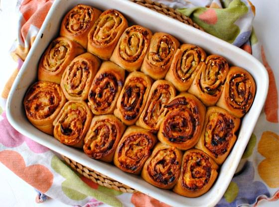savoury Chelsea buns