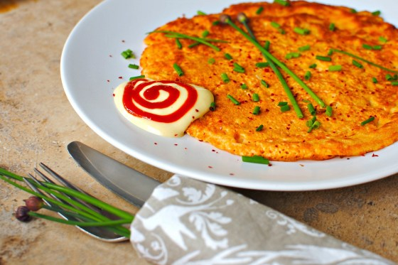 sneaky peek at my upcoming kimchi pancake!