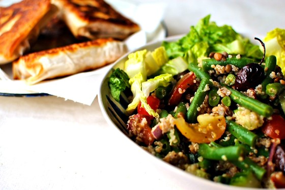 greek lentil and quinoa salad