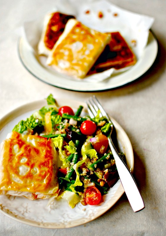 spicy crab parcels