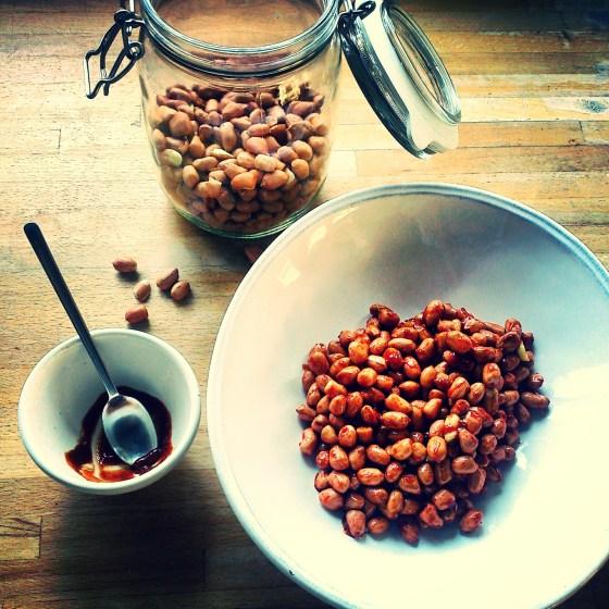 Sriracha and Miso Nuts