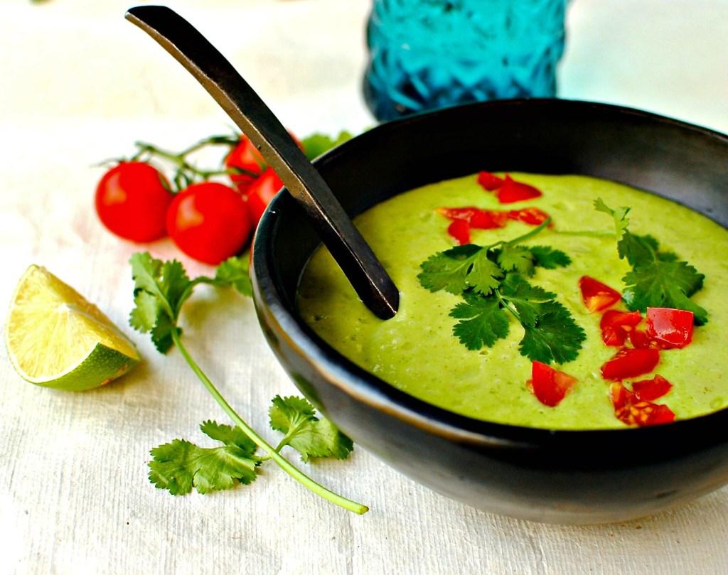 Cream Of Avocado Soup | No Cook Recipes With Refreshing Summer Flavors | Homemade Recipes