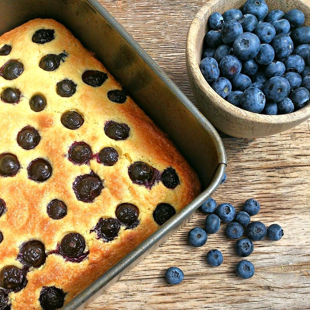 lemon-berry polenta cake