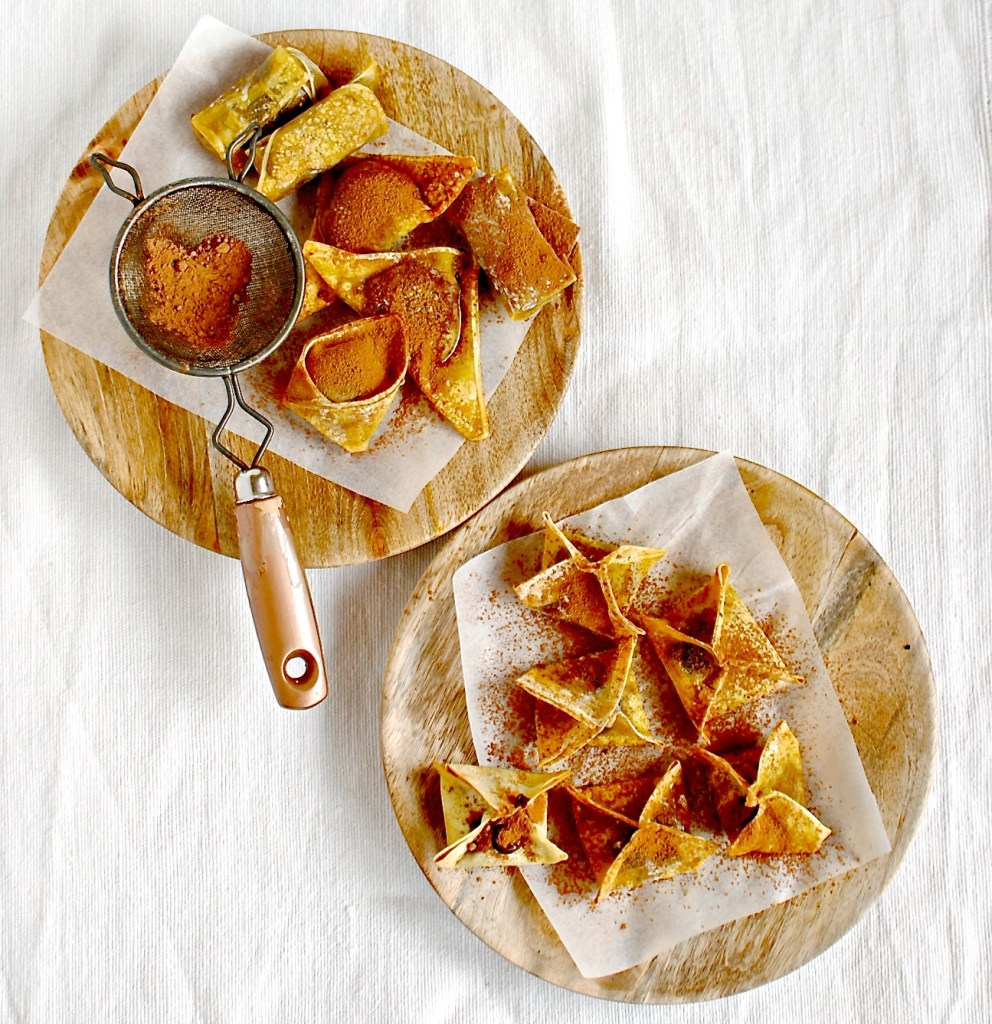 baked chocolate wontons by food to glow