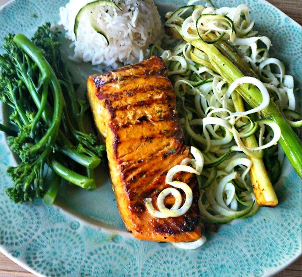 turmeric and lime salmon