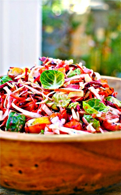 winter slaw with pears and cranberries // food to glow