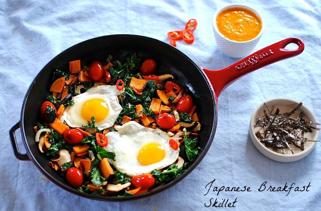 Japanese Breakfast Skillet With Warm Tomato Ginger And