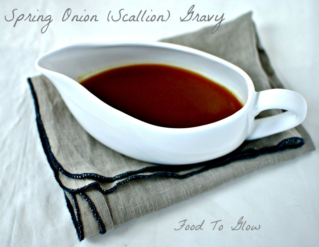 spring-onion-scallion-gravy food to glow