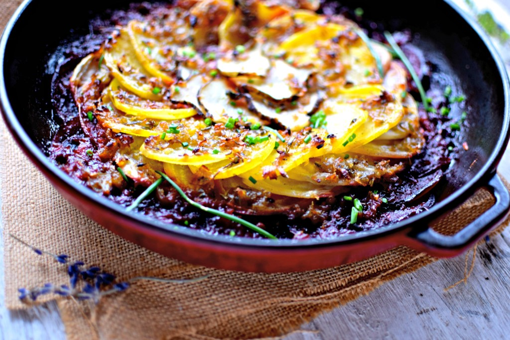 beetroot-jeruslaem-artichoke-gratin food to glow