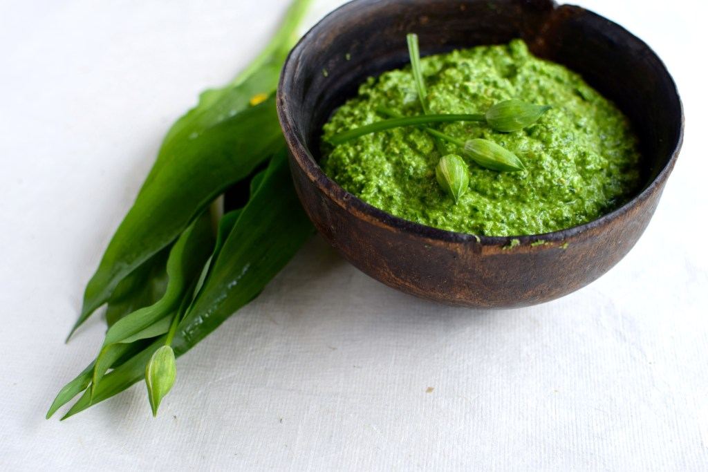 wild-garlic-aand-nettle-pesto by food to glow