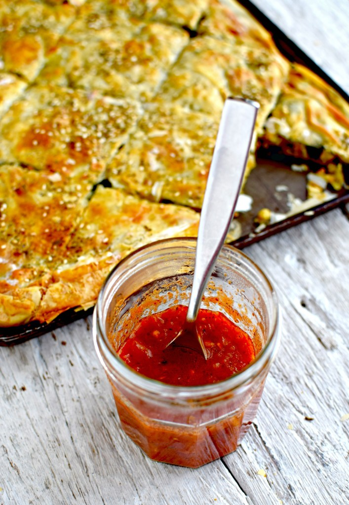 wild greens, chickpeas and ricotta borek by food to glow #vegetarian #baking