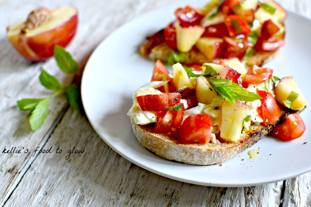 The combination of nectarine and tomato may sound odd but it is an absolutely brilliant taste of summer when combined with a few special ingredients. Whether you call it a bruschetta, tartine, posh toast or breakfast, this is bursting with summer flavours.