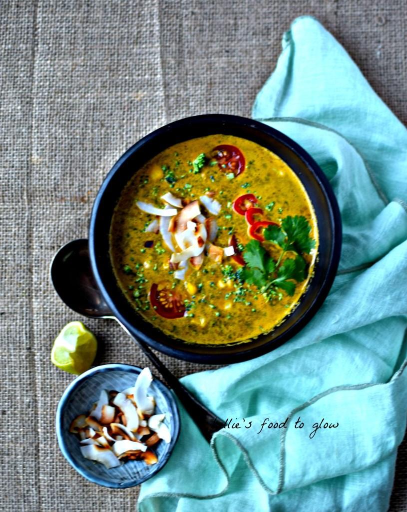 A 15-minute vegan take on the Thai tom kha kai.
