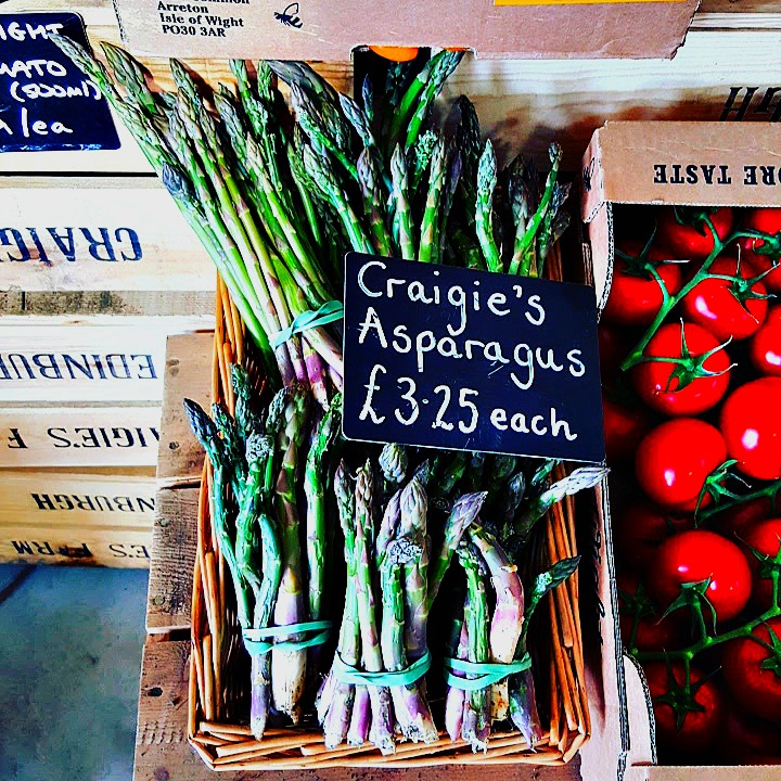 """wonky"" small-scale local asparagus"