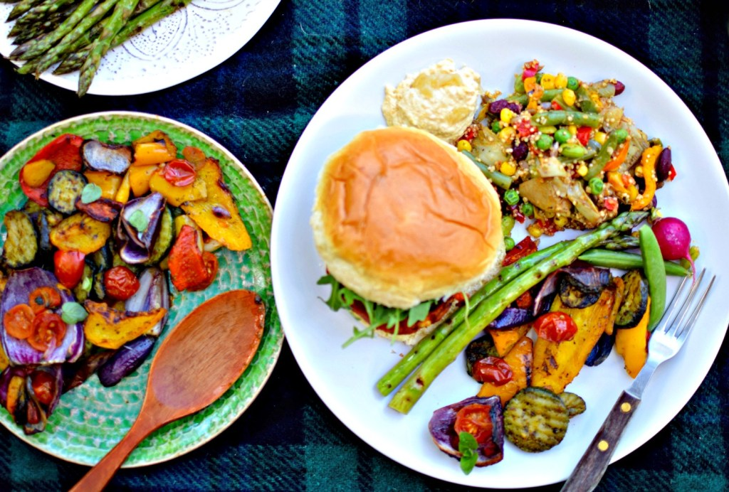 Make planning picnics and BBQs that much easier by finding freezer space for some delicious cooked grain mixes, prepared vegetables and veggie burgers. This easy Zesty Quinoa, Bean and Artichoke Salad is perfect whether you are sunning yourself outside on a picnic blanket, or huddled under a marquee while the rain buckets down.