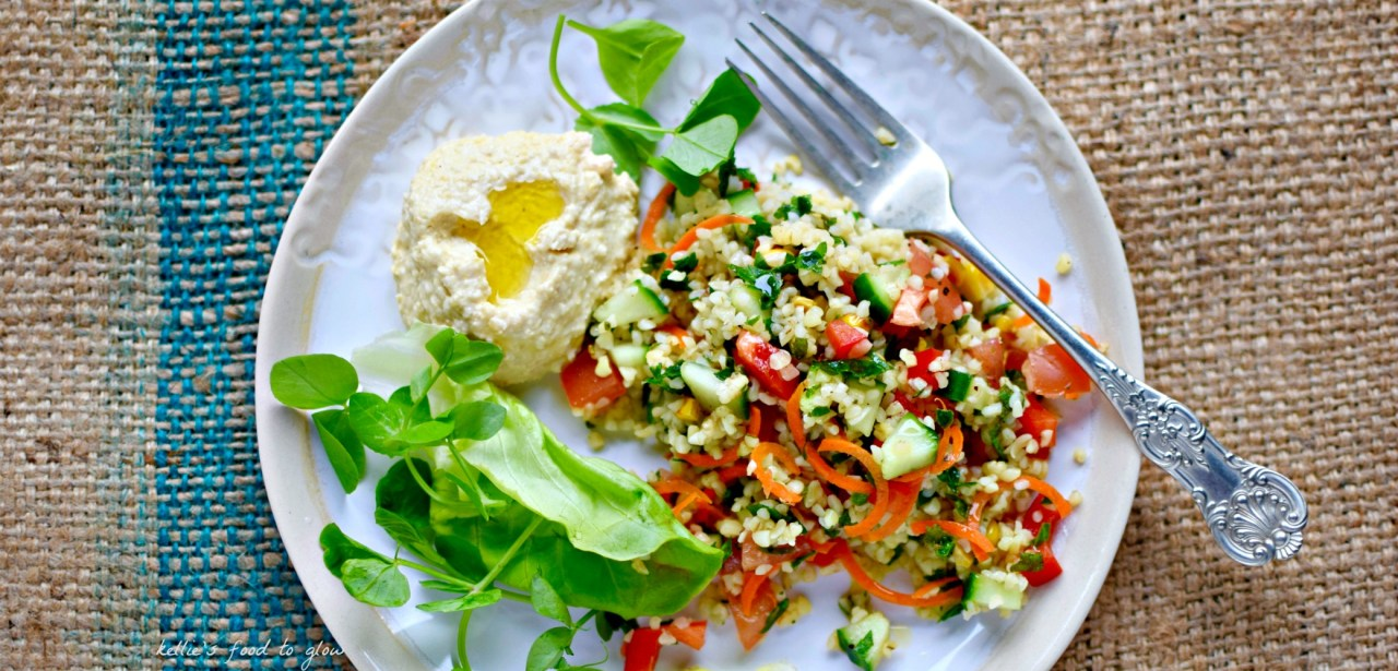 If you have never made deli counter-staple tabbouleh, before but appreciate the healthy fresh taste of this salad, use this as a guide before striking out on your own next time. Delicious for lunch, BBQ or a picnic with other summer salads and its best bud, hummus. This is easily grain-free and paleo by blitzing cauliflower into grains, or using quinoa. But then it really isn't tabbouleh, and Middle Eastern mamas everywhere will tut and tsk. Fact.