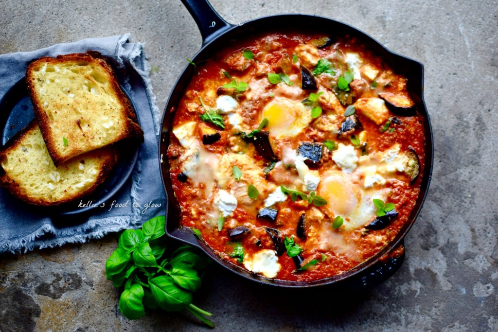 The love child of Middle Eastern shakshuka and good old Italian fat-bomb, Eggplant Parmigiana. But healthier, obvs. PS This MUST be served with garlic bread