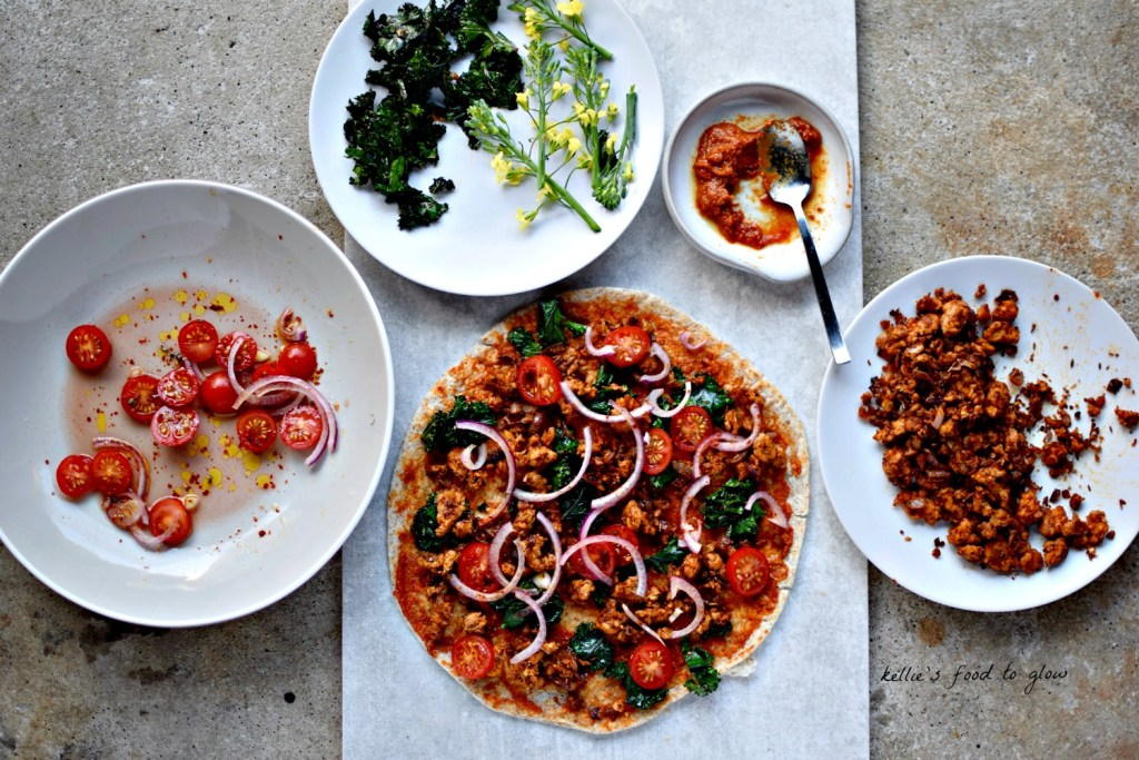 I'll give you you no claims as to authenticity, but I will say that this vegan take on Turkey's version of pizza is flipping delicious, and perfect for a quick supper.