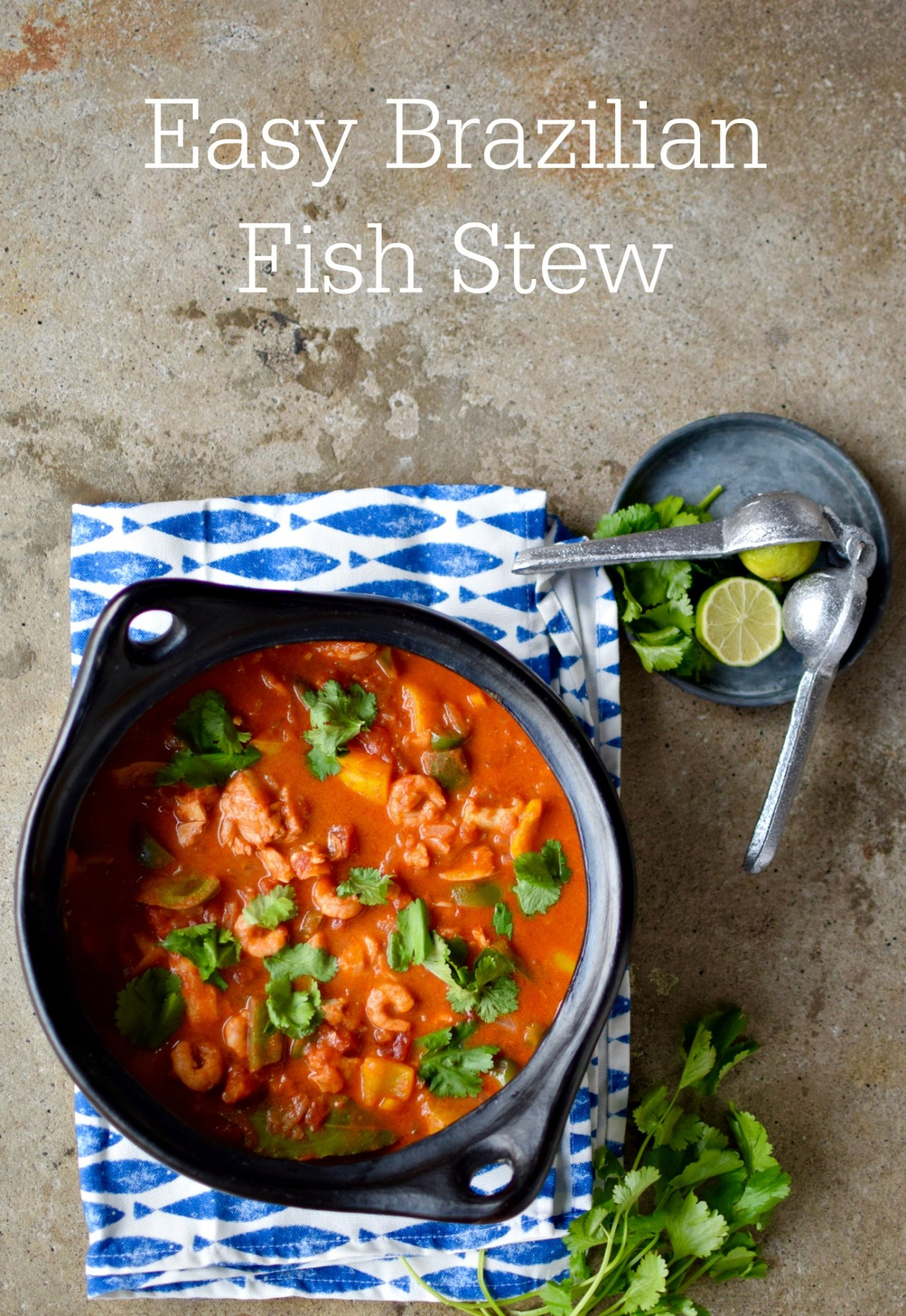 Creamy coconut milk is the secret to turning frozen fish, onions, peppers, tomatoes and leaf coriander from a great fish stew to an amazing fish stew. Try this super easy and healthy family-friendly recipe tonight!