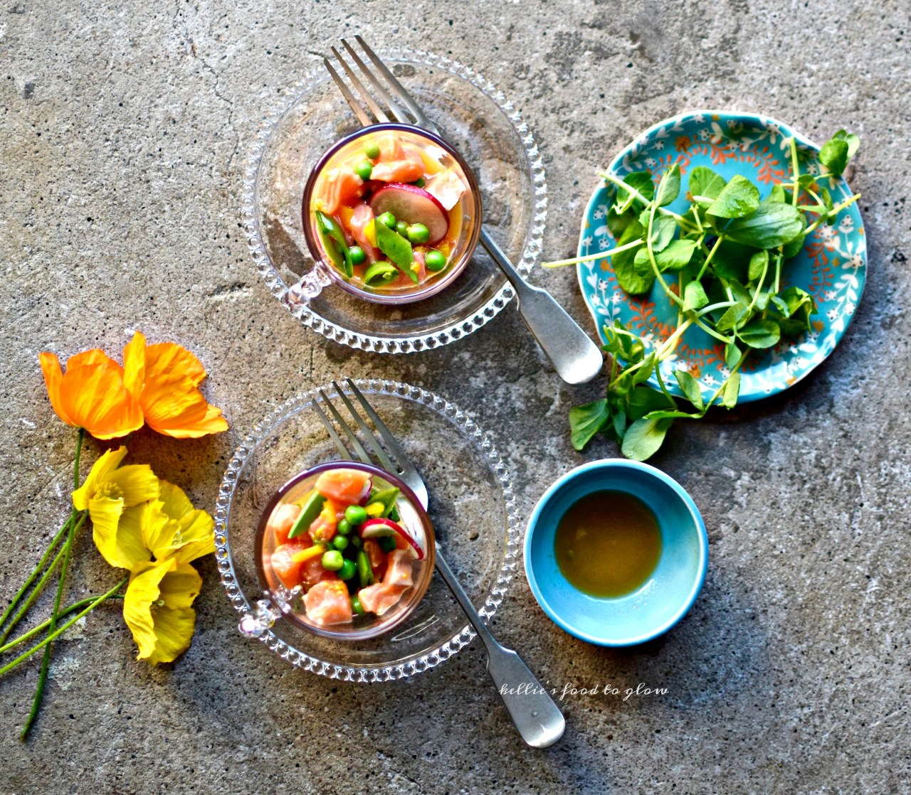 Light, bright and easy, ceviche is summer's quickest fancy food option. Cooked, yet not heated, ceviche saves you toiling away in a hot kitchen yet gives you the most glorious appetizer or lunch. And it's one of the easiest and prettiest dishes in the world to prepare. The yuzu tips it into must-make territory.