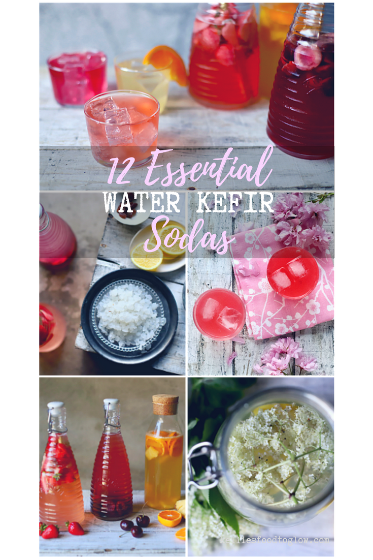 12 summer-kissed, fruity water kefir soda recipes to see you through the hottest days. Easy and adaptable. Fizzy and fun. #kefir #drinks #recipe #nondairy #guthealth #probiotic