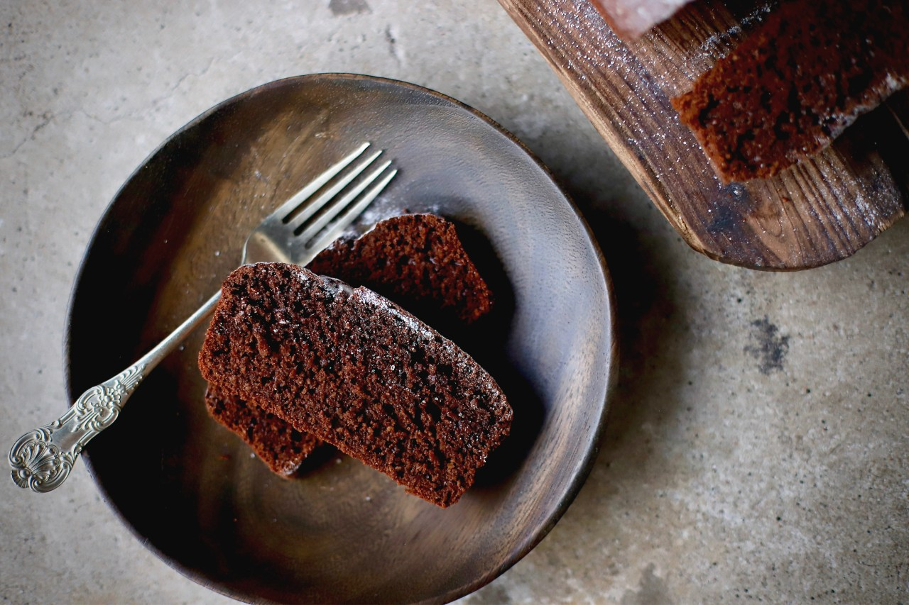 Easy Everyday Chocolate Cake - one-bowl, lower sugar and deeply chocolatey. Just add a fork! #chocolate #cake #baking #easyrecipe