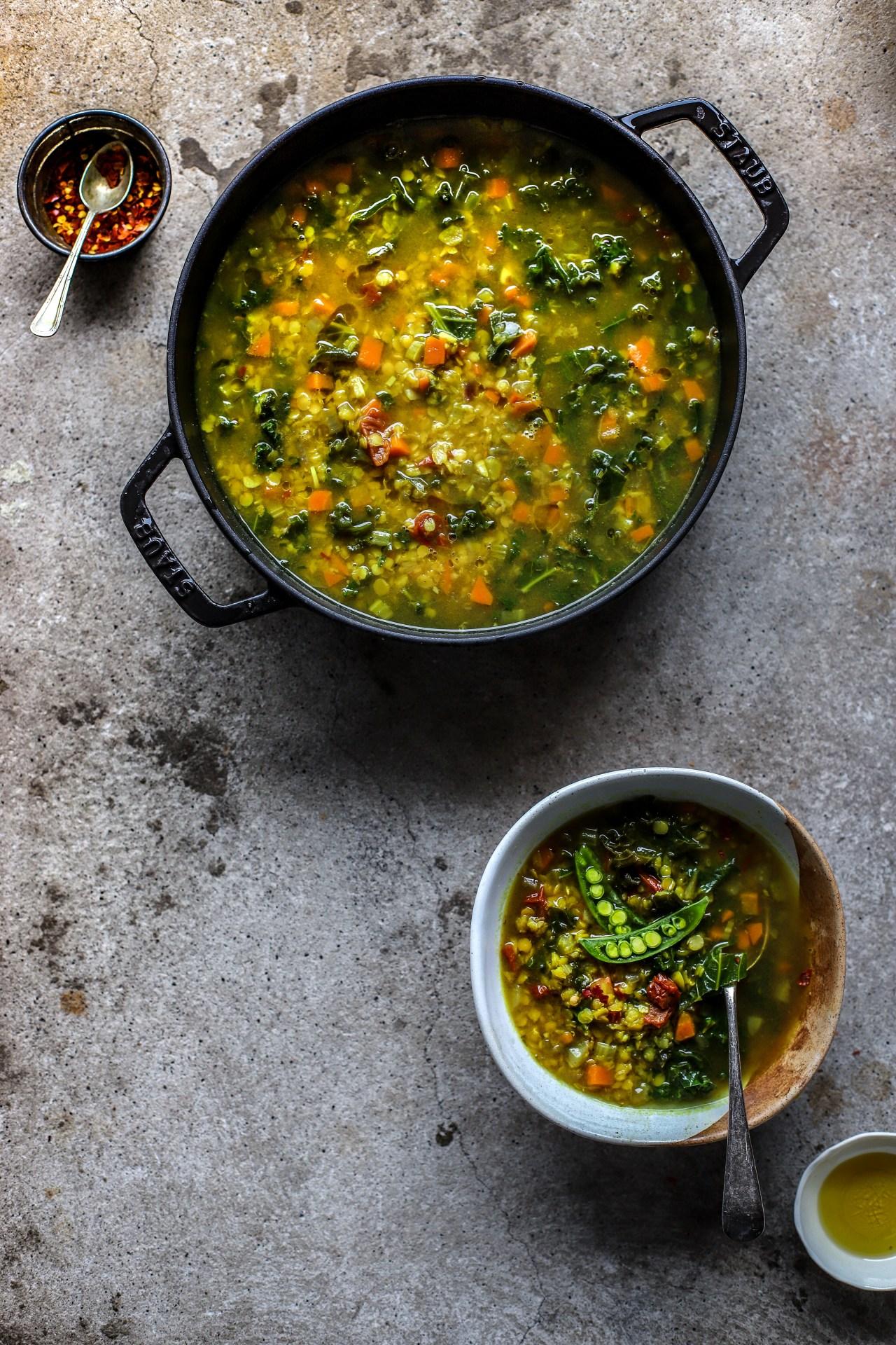 #Mediterranean #Lentil, #Turmeric and Lemon Broth - #antiinflammatorydiet #soup #vegetables #recipe