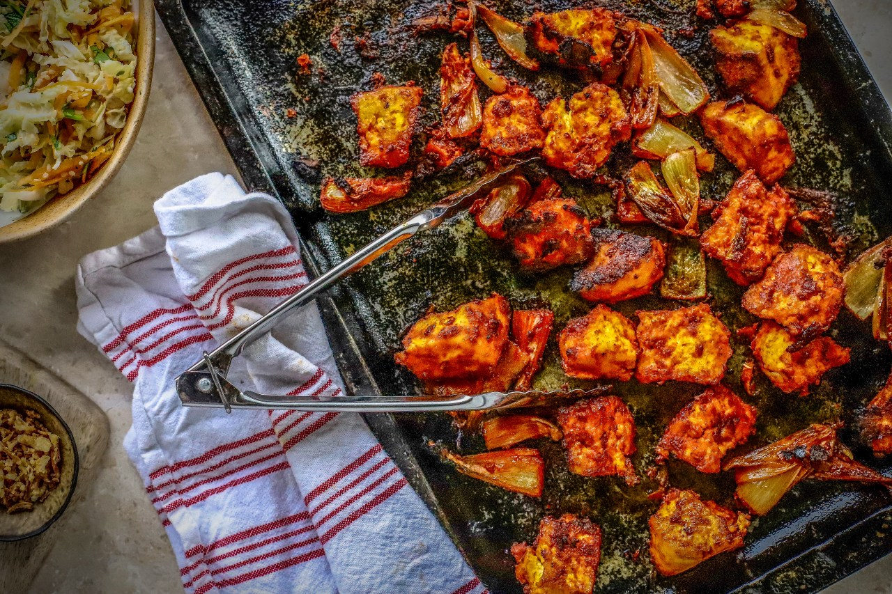 Sheet Pan #Korean #BBQ Tofu - so easy for a weekday #vegan #dinner