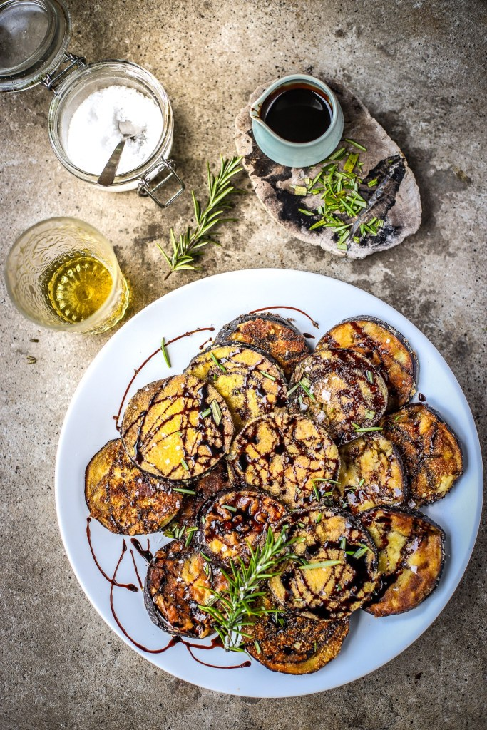 Spanish eggplant tapas dish
