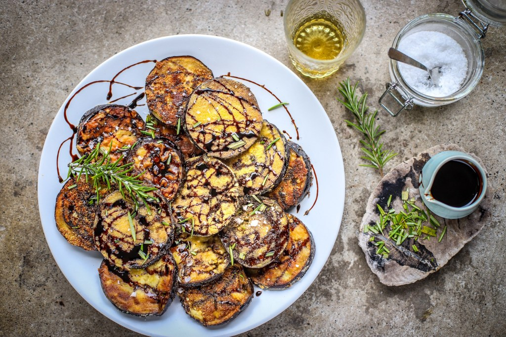 Spanish fried eggplant