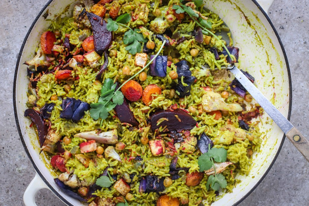 winter vegetable pilau rice