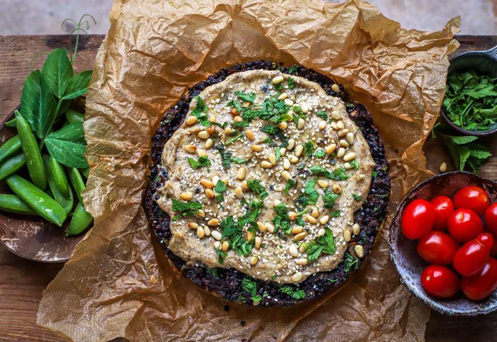 lentil kibbeh pie