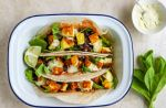 refried black bean and halloumi tacos