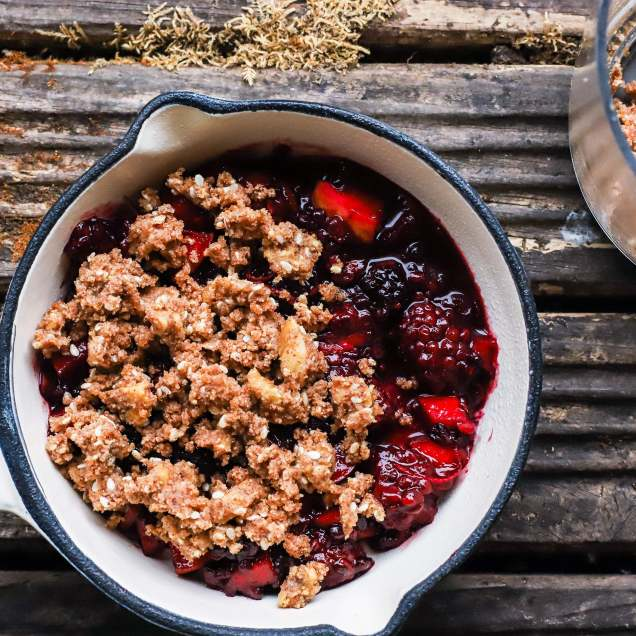 apple-berry crumble-6