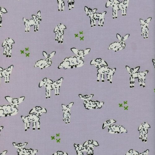 Little Lambs grey Clover Collection by Alexia Marcelle Abegg of Cotton and Steel