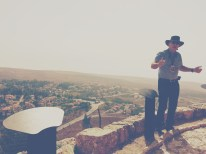 Lookout point to the Israeli-Syrian border