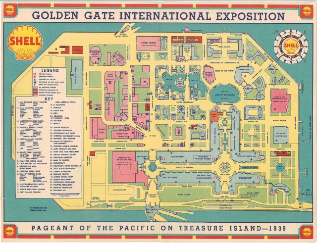 Map of the Golden Gate International Exposition